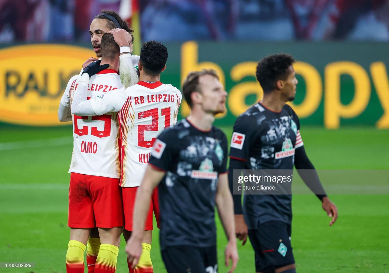 RB Leipzig 2-0 Werder Bremen: Die Roten Bullen go top after another strong showing