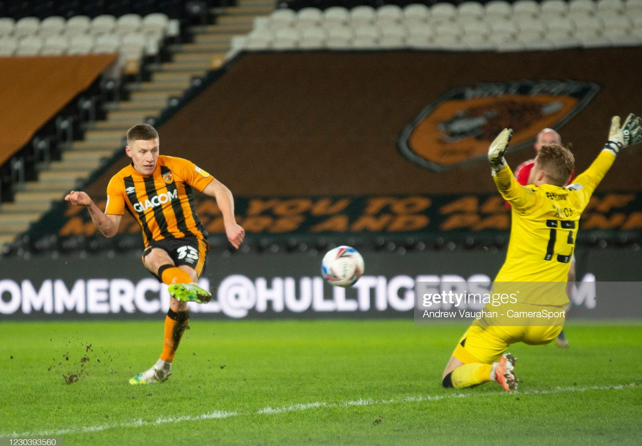 Hull City 2-0 Charlton Athletic: Adelakun and Docherty ensure Tigers first win in four as Pratley sees red