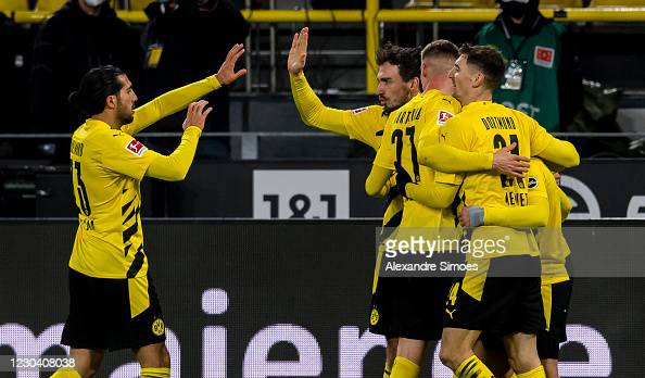 Borussia Dortmund 2-0 VfL Wolfsburg: Sancho ends drought as BVB seal much needed win