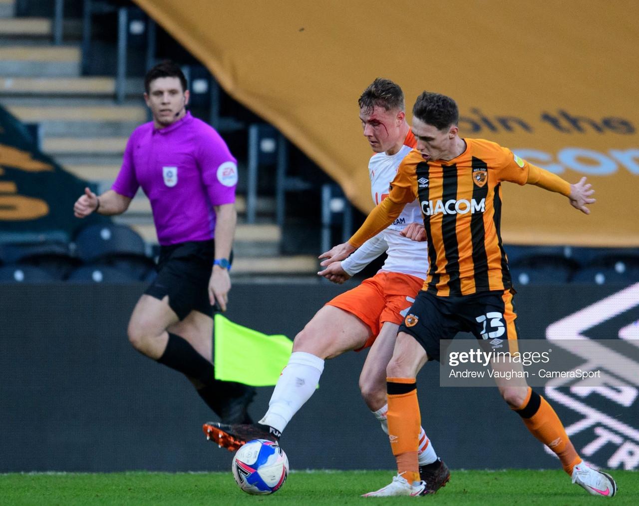 Hull City 1-1 Blackpool: Reece Burke sees red as Blackpool scrape a draw