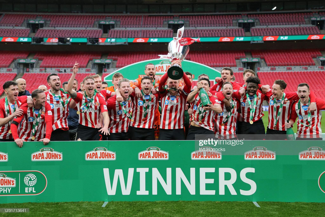 Sunderland 1-0 Tranmere Rovers: Black Cats end Wembley hoodoo with Papa John's Trophy Final victory