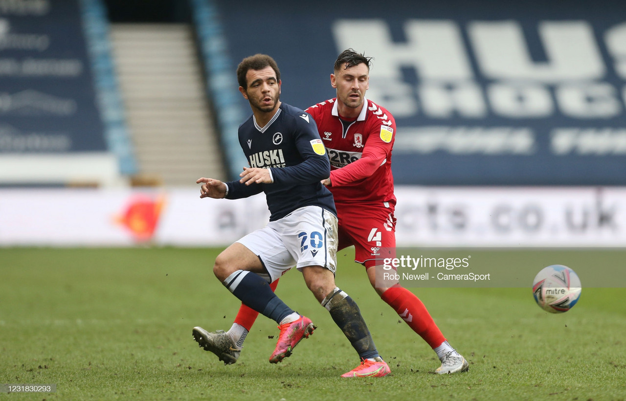 Millwall 1-0 Middlesbrough: Hall own goal dents Boro's play-off hopes.