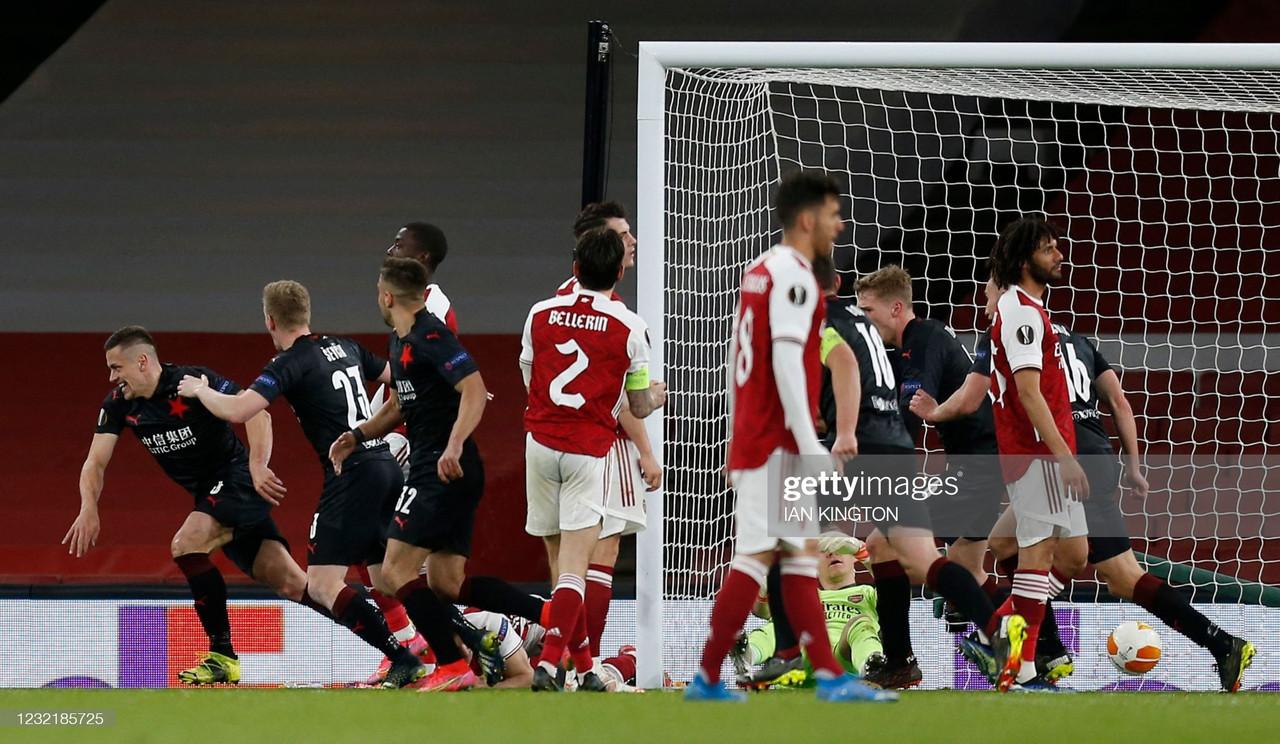 The Warm Down: Arsenal fall at the final hurdle against Slavia Prague