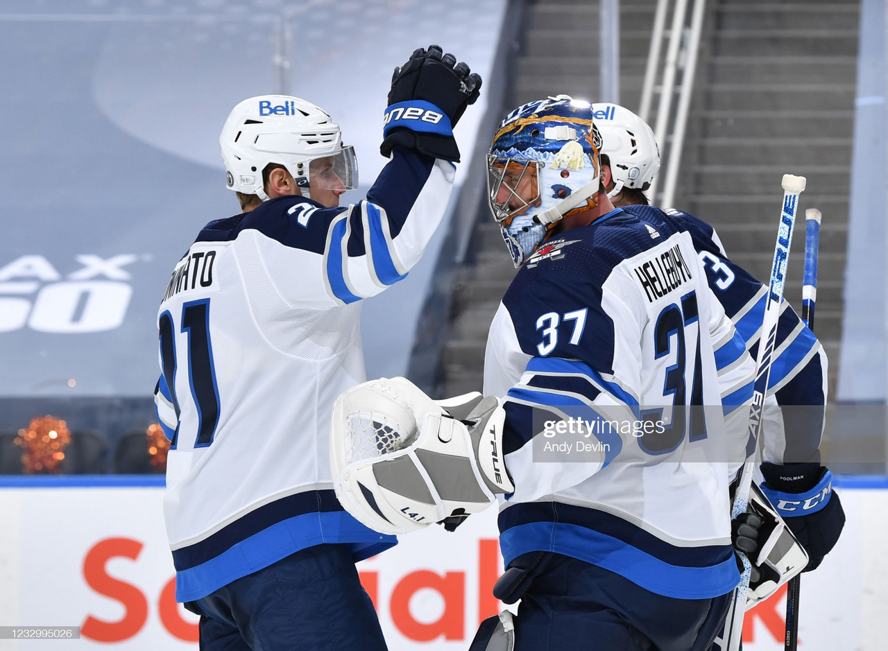 2021 Stanley Cup playoffs: Hellebuyck leads Jets past Oilers in Game 1 on 28th birthday