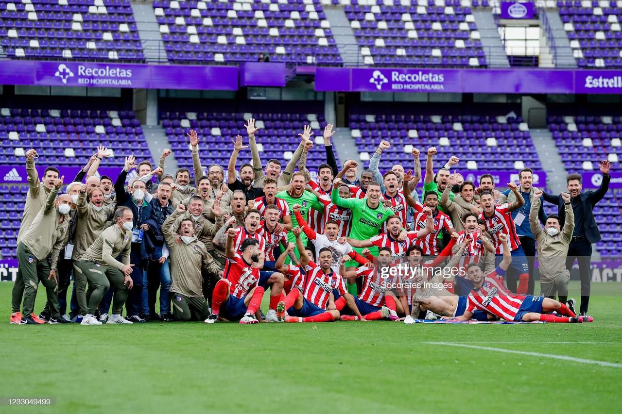 Atletico Madrid overcome final day nerves to win La Liga title