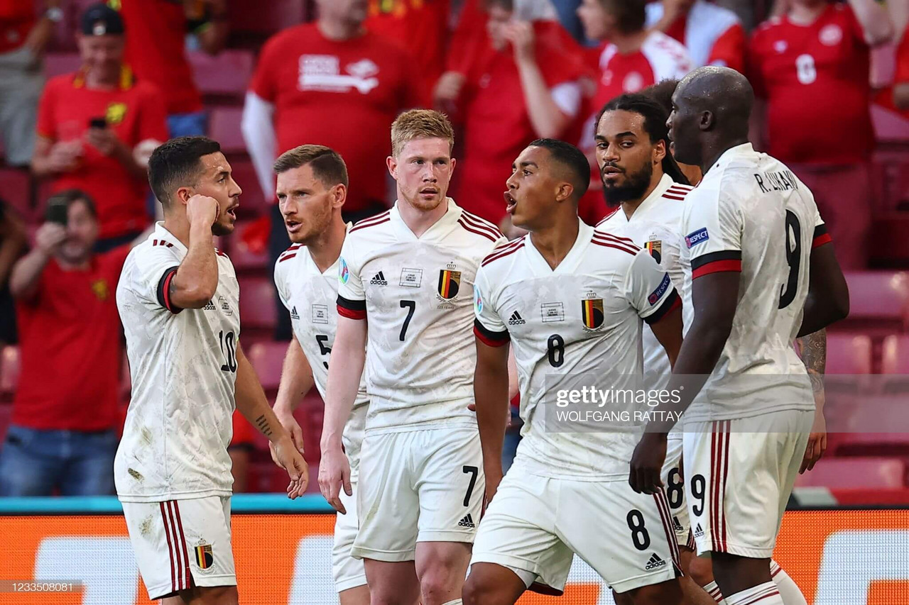 Denmark 1-2 Belgium: Red Devils fight hard for victory in Copenhagen as tributes paid to Christian Eriksen