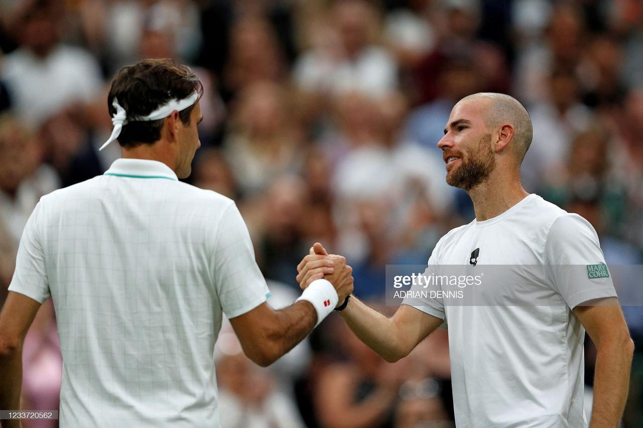 2021 Wimbledon: Roger Federer through after Adrian Mannarino retires