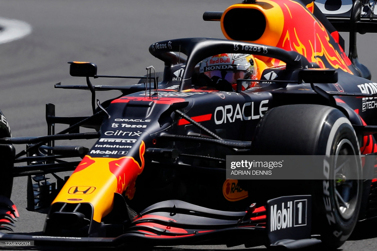 2021 British GP Practice 2 - Verstappen tops times ahead of the two prancing horses.