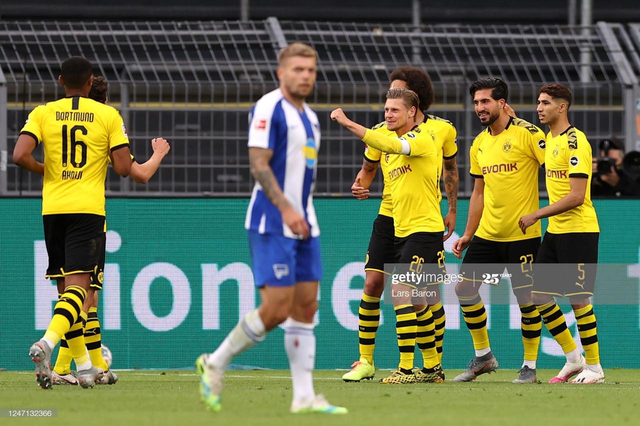 Borussia Dortmund 1-0 Hertha BSC: Dortmund deal killer blow to Hertha's European hopes