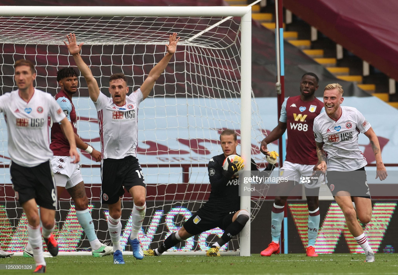 Aston Villa 0-0 Sheffield United: Refereeing disasterclass steals the show on the Premier League's return