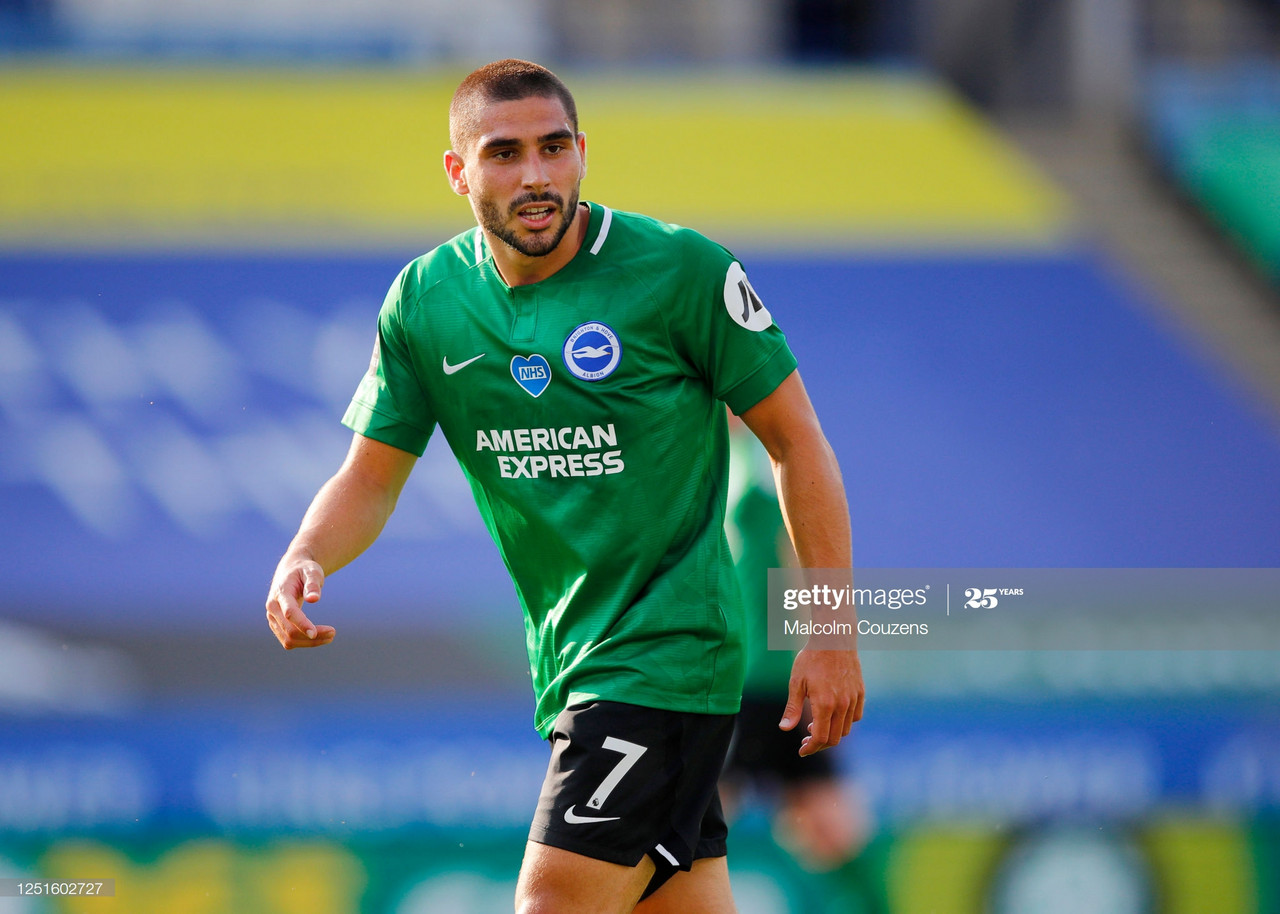 Neal Maupay ready to score more goals as Brighton ready for Manchester United