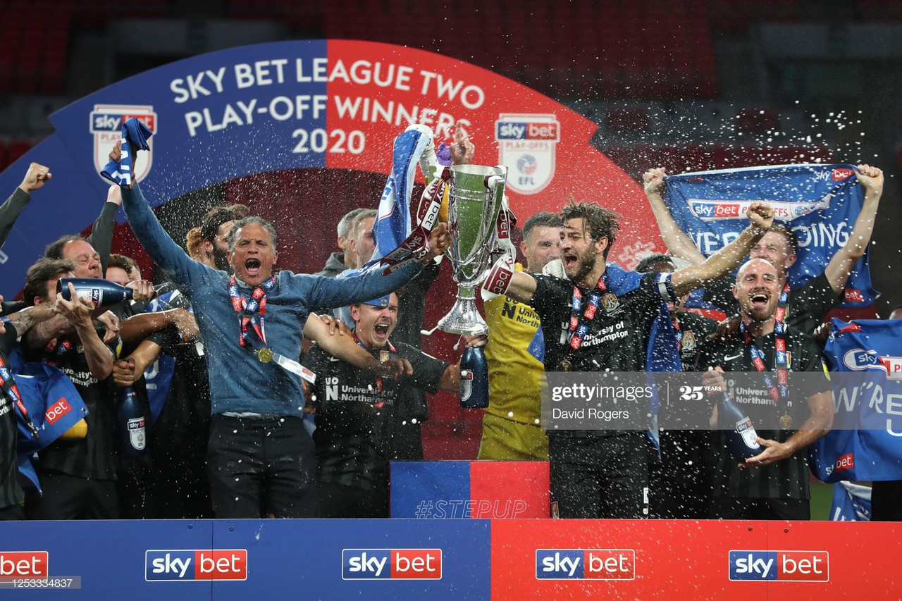 Exeter 0-4 Northampton: Cobblers promoted after runaway victory