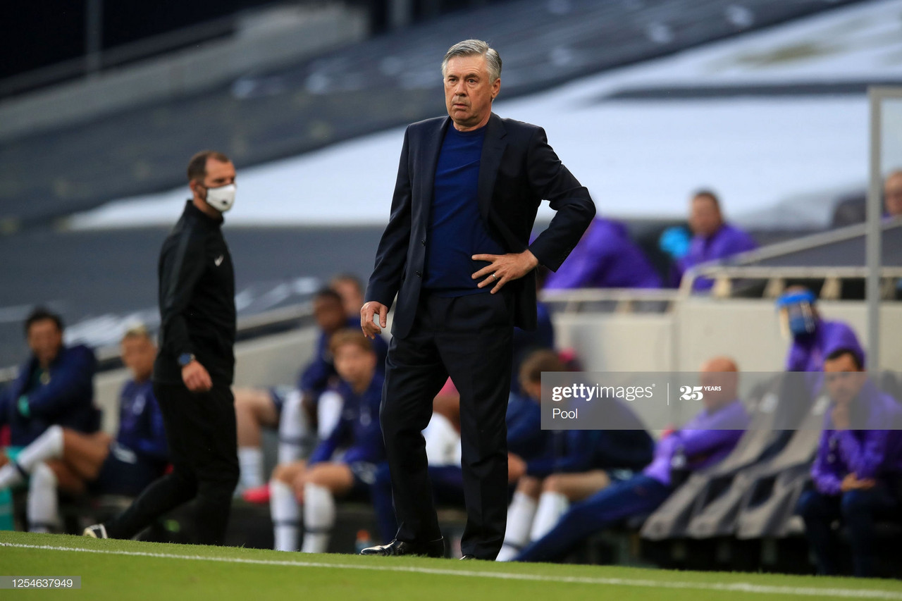 Carlo Ancelotti says he is yet to make his mind up about Everton transfers