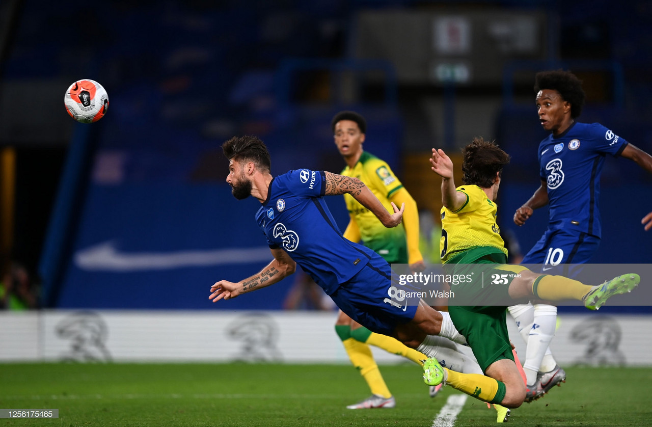 Chelsea 1 - 0 Norwich City: Giroud's header moves Chelsea closer to Champions League