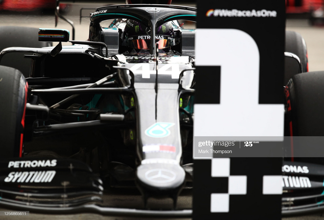 Mercedes lock-out front row in Hungary