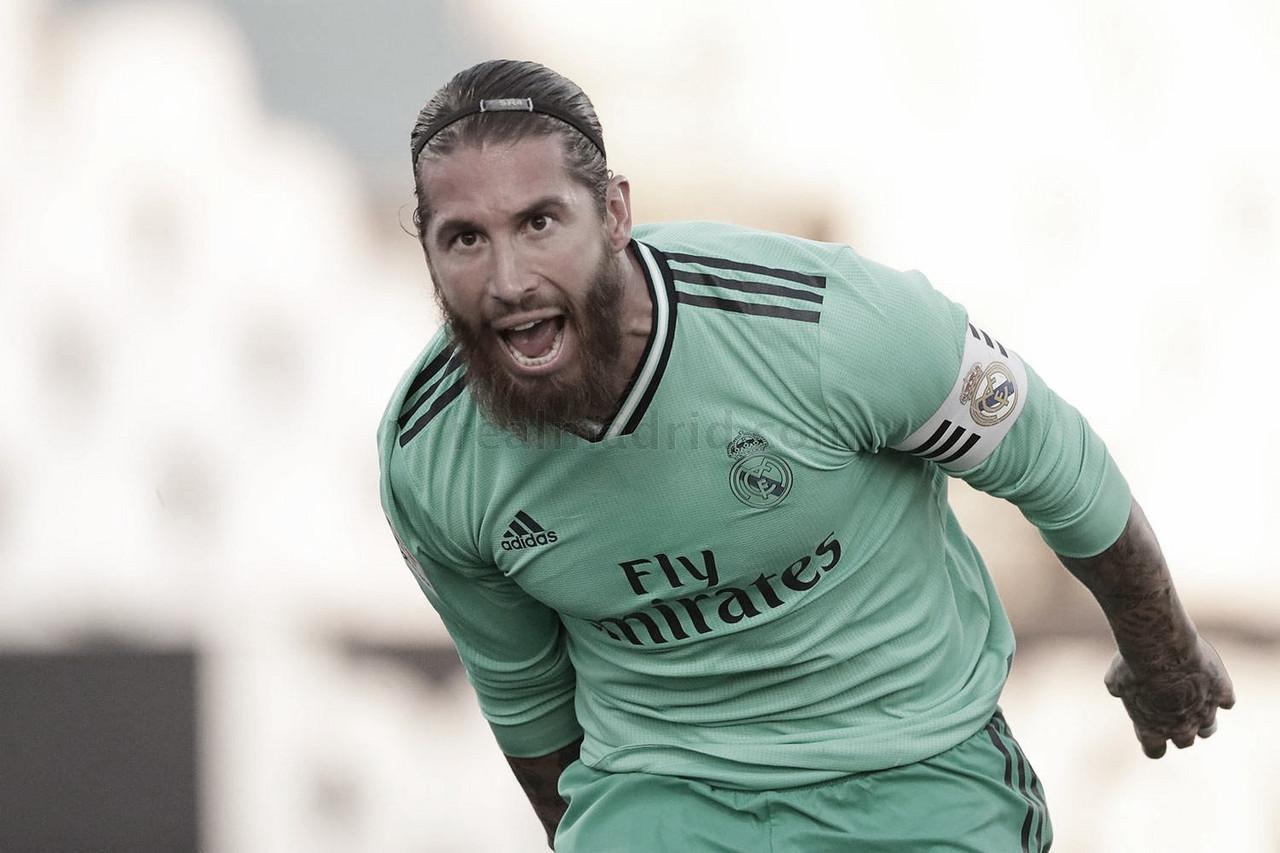 Sergio Ramos y la mochila de los 650 partidos disputados con el Real Madrid