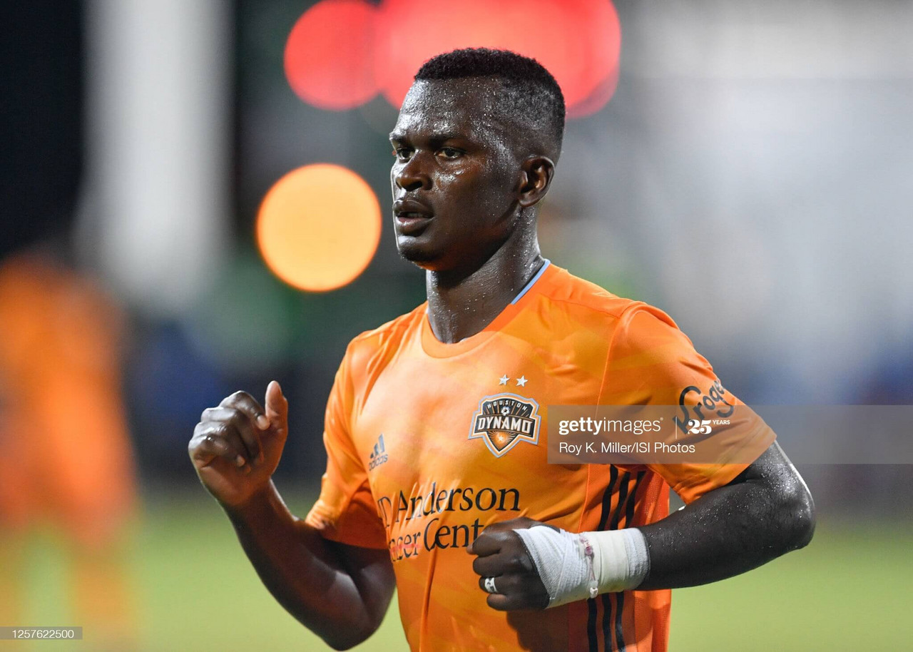 Darwin Quintero opened the scoring for the Houston Dynamo, finding twine on twenty minutes in the Texas Derby between Houston and FC Dallas. | Photo by Roy Miller/ISI Photos/Getty Images