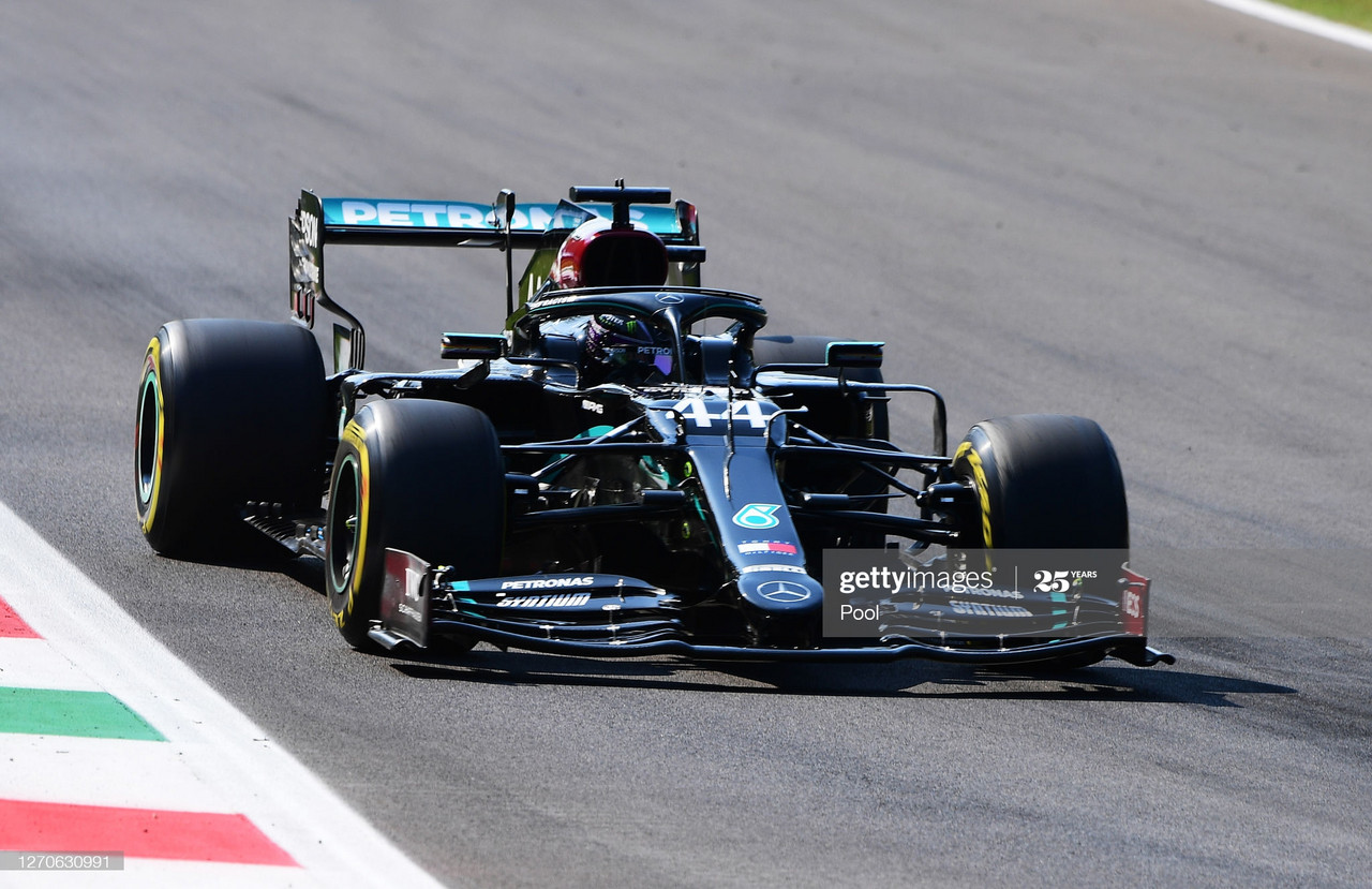 Hamilton tops the charts in second practice following qualifying simulations