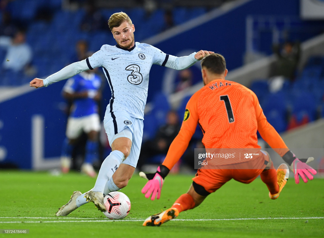 Brighton 1-3 Chelsea: Werner impresses on debut