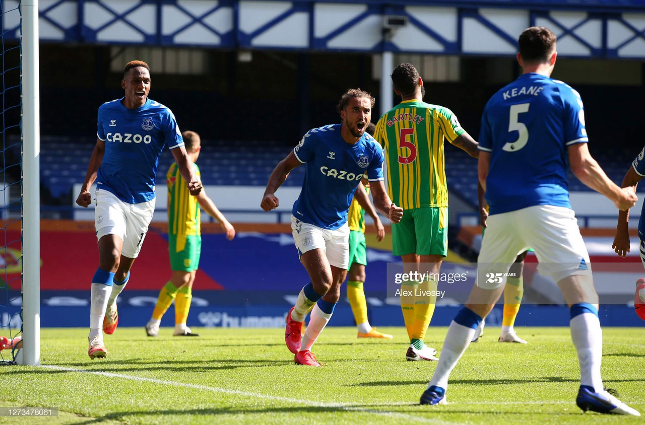 Everton 5-2 West Brom: Calvert-Lewin hatrick too much for 10-man West Brom