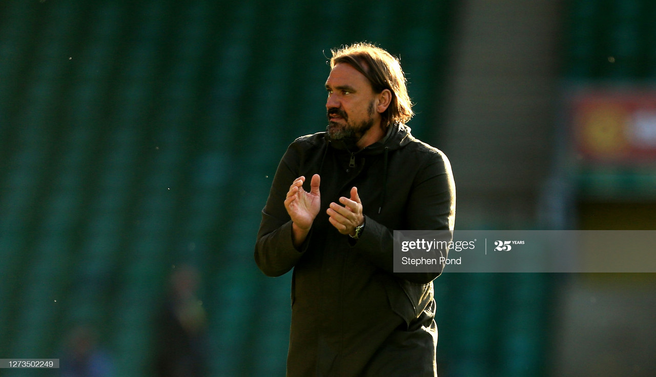 Norwich City manager Daniel Farke | (Photo by Stephen Pond/Getty Images)