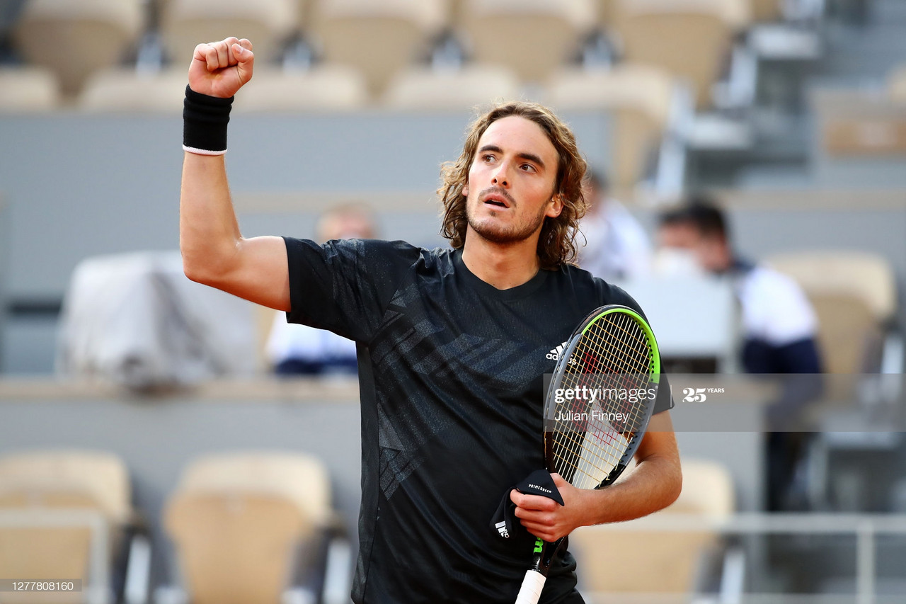 French Open: Stefanos Tsitsipas cruises past a lackluster Pablo Cuevas into the third round