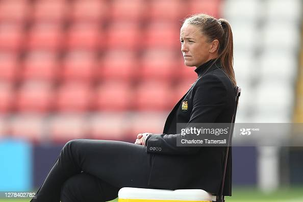 """""""The game is in danger at the moment of losing the fan base, when we're desperate to grow it"""" - Casey Stoney ahead of Manchester United's Continental Cup match"""