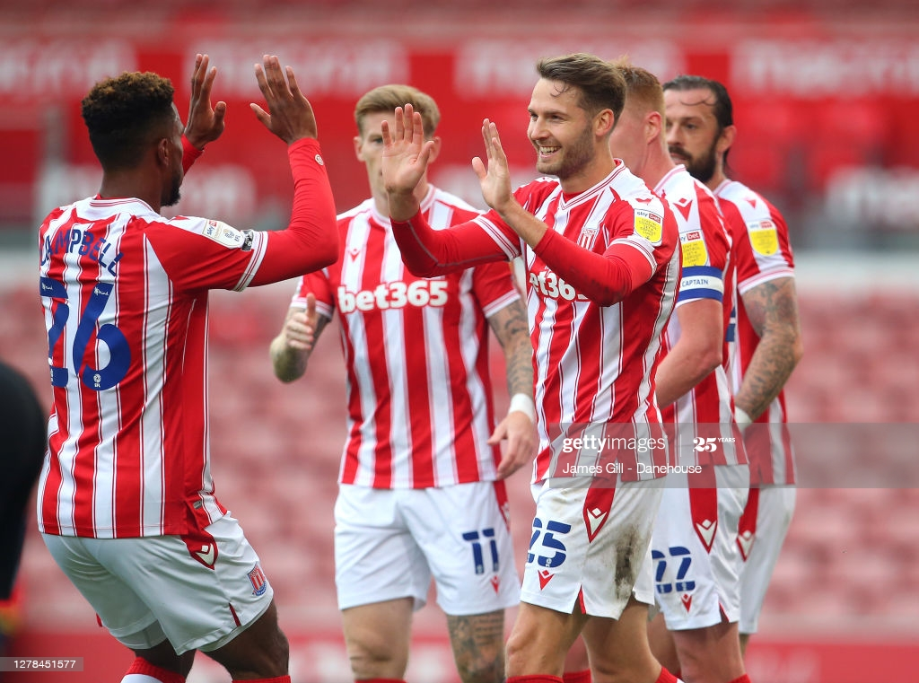Stoke face Brentford at the bet365 Stadium (Image from James Gill-gettyimages)