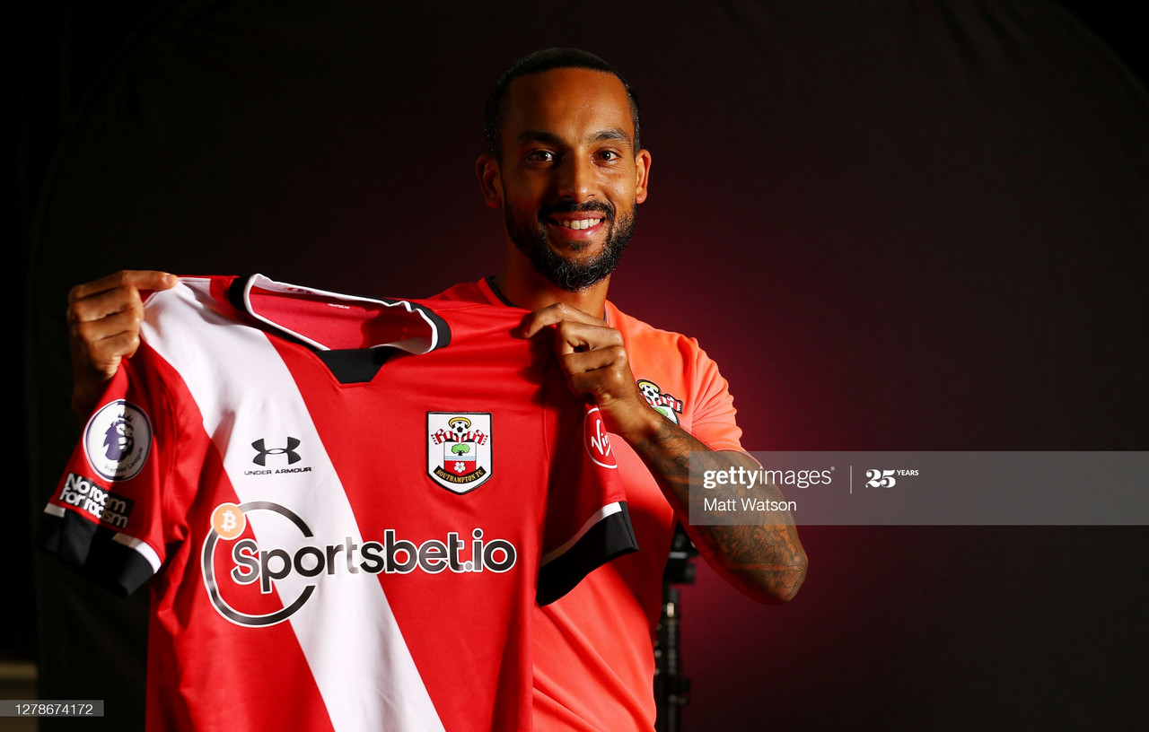 Southampton FC sign Theo Walcott on a season-long loan deal from Everton, pictured on October 05, 2020 in Southampton, England. (Photo by Matt Watson/Southampton FC via Getty Images)