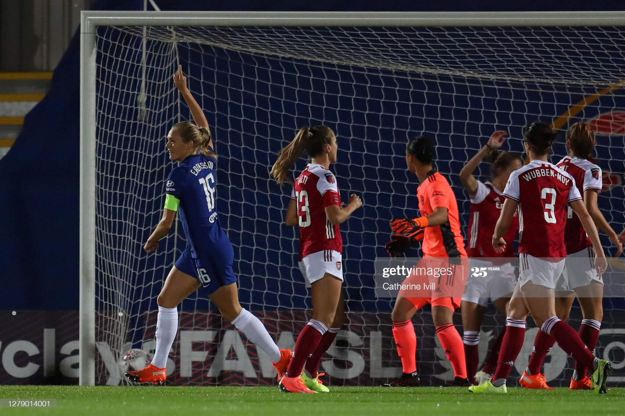 Magdalena Eriksson was on the score-sheet last time the two sides were up against each other in the Continental Cup at Kingsmeadow on October 7th.<br>Photo credit: Catherine Ivill for GettyImages
