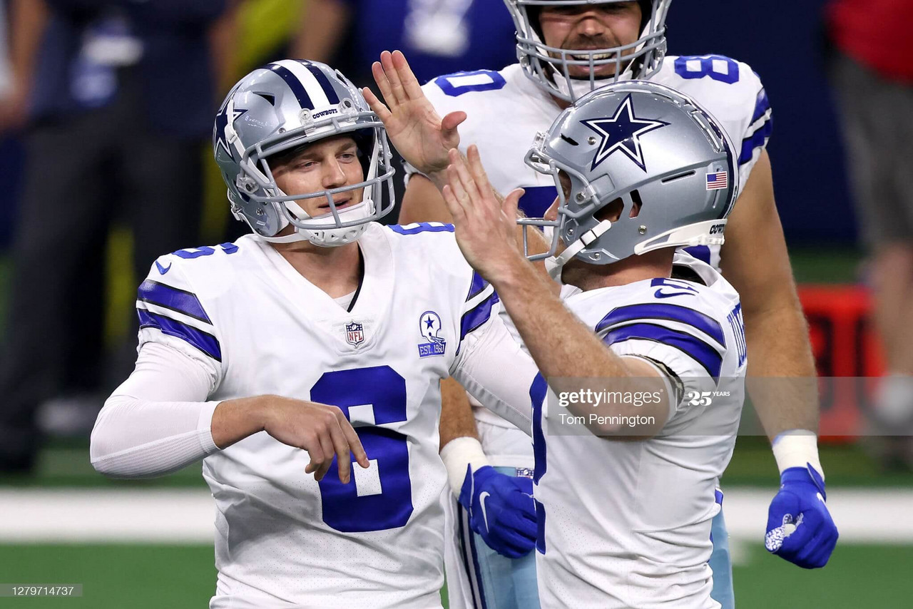 Zuerlein celebrates with punter Chris Jones after hitting the game-winning field goal/Photo: Tom Pennington