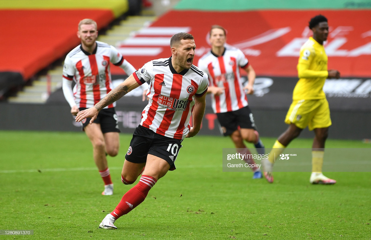 Billy Sharps equaliser was his 99th league goal for the Blades (Photo by Gareth Copley/Getty Images)