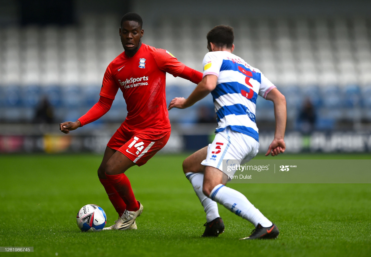 Jonathan Leko in action earlier in the season vs QPR at Loftus Road (GettyImages)
