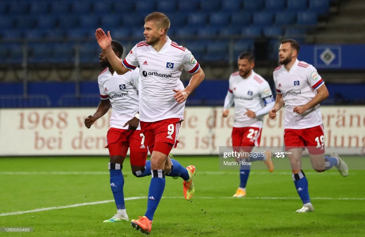 Hamburger SV 2-2 St. Pauli: Terodde on target again to secure a point for Die Rothosen