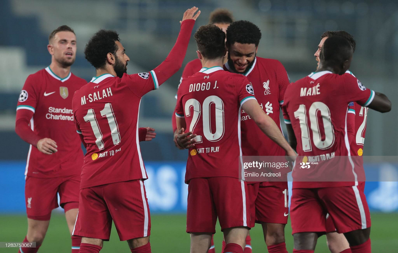 atalanta b c 0 5 liverpool diogo jota hat trick inspires reds to a dominant win in italy vavel international diogo jota hat trick inspires reds to a