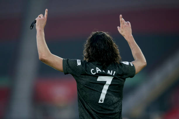 Cavani scores for United: Getty Images