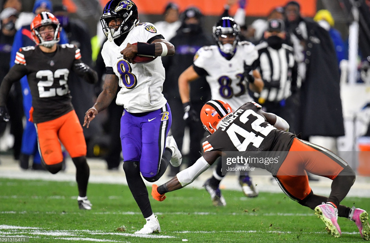 Superman Lamar Jackson comes back to win it at Cleveland