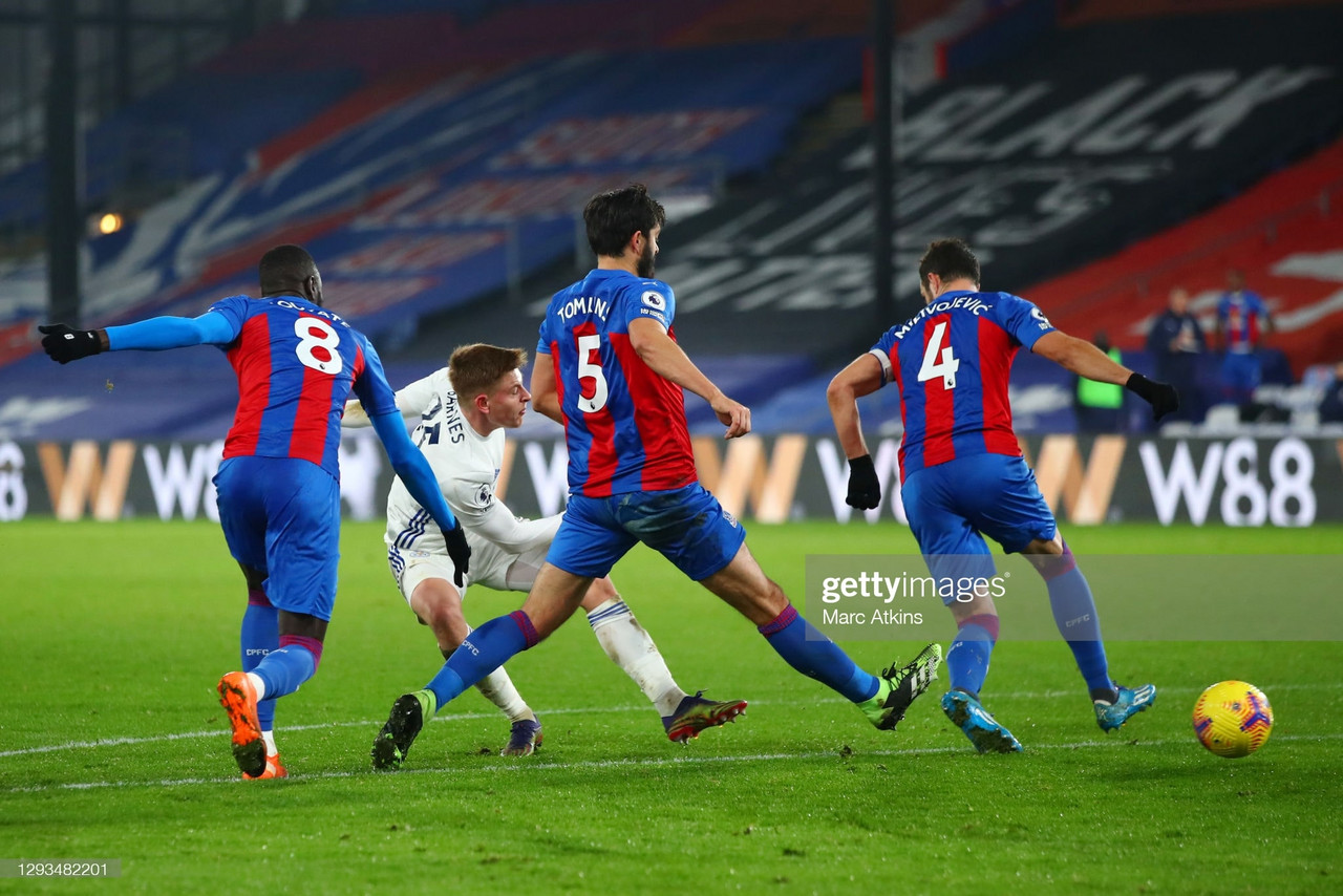 Crystal Palace 1-1 Leicester City: Wilfried Zaha's opening goal canceled out by an exquisite strike from Harvey Barnes