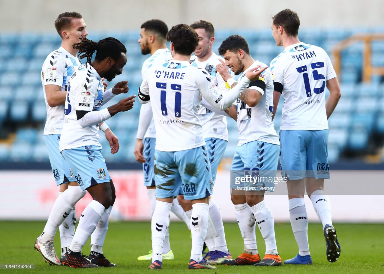 Millwall 1-2 Coventry City: Lions beaten by inspired Sky Blues at The Den