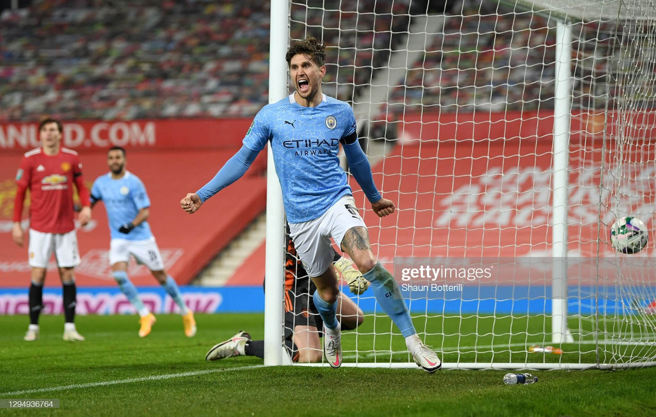 Manchester United 0-2 Manchester City: Stones and Fernandinho knock Solskjaer out of fourth consecutive semi-final