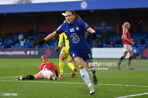 Chelsea 2-1 Manchester United: Fran Kirby sends Chelsea to the top of the WSL
