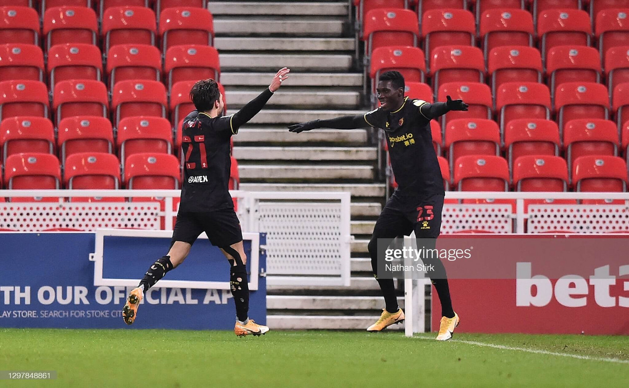 Stoke City 1-2 Watford: Deeney, Sarr fire Hornets up to third in crucial win against Potters