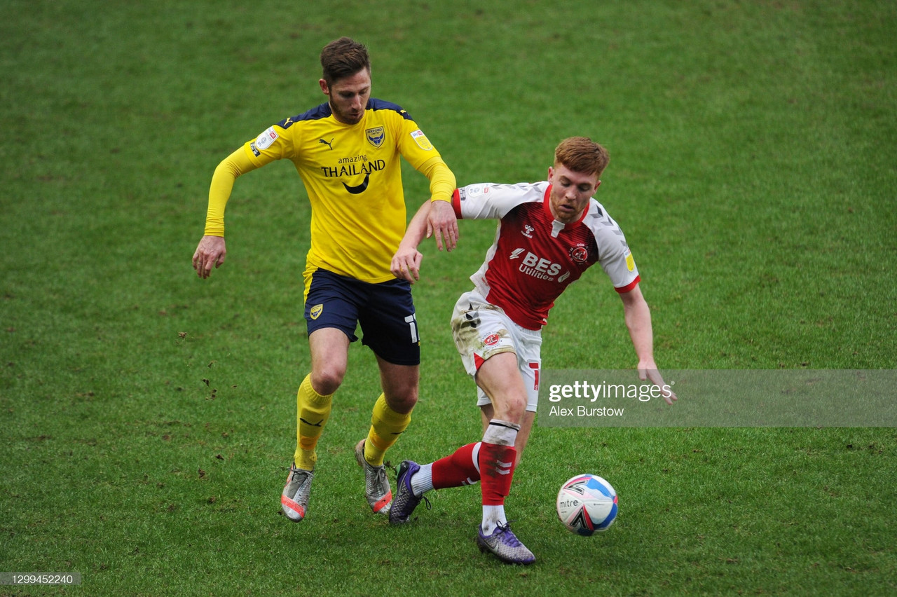 Oxford United 1-0 Fleetwood Town: The U's are lifted into play-off contention via Ruffels header