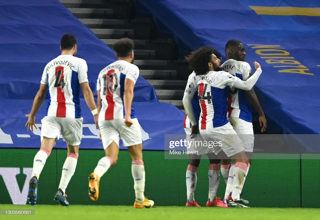 As it happened: Crystal Palace land a killer blow late on to secure all three points at Brighton