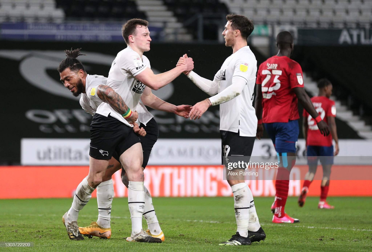 Derby County 2-0 Huddersfield Town: Rooney tactical change seals three points for Rams