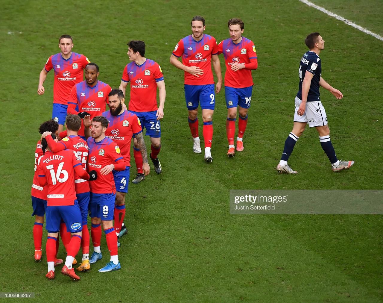 Millwall 0-2 Blackburn Rovers: Dack and Gallagher on target as Blackburn coast past Lions
