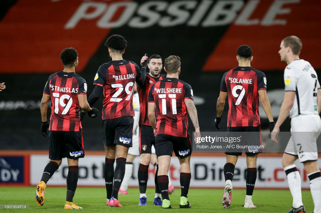 Sky Bet Championship round-up: Bournemouth revive promotion hopes as Brentford lose ground & Norwich extend winning streak to nine