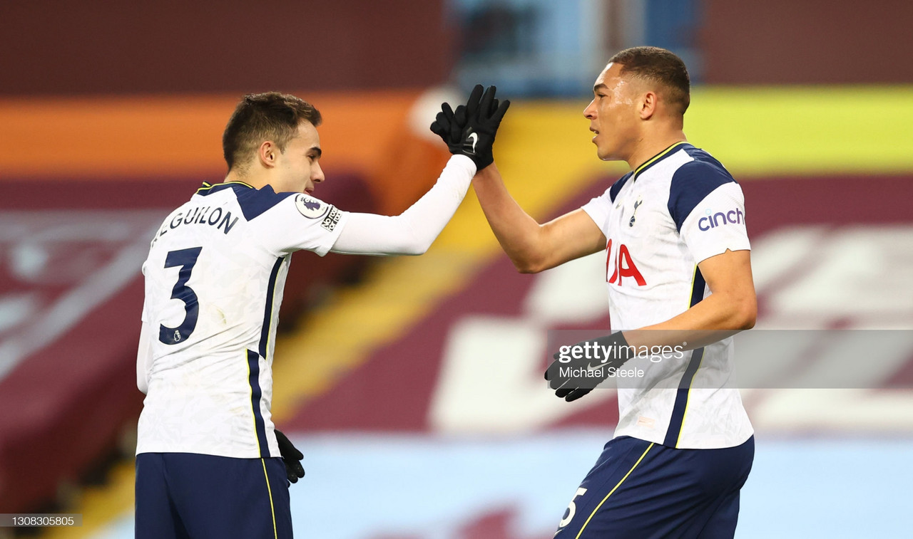 Aston Villa 0-2 Tottenham Hotspur: Vinicius and Kane maintain European hopes for Spurs