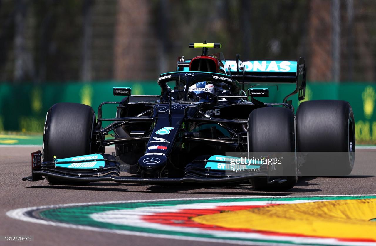 Bottas tops times, as Ocon and Perez hit trouble - Imola GP 2021 FP1