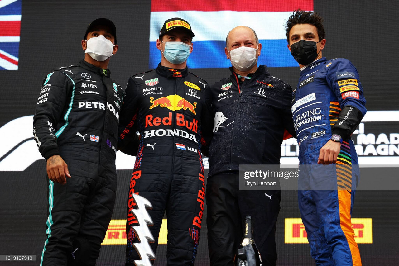 2021 Imola GP: Max Verstappen wins dramatic race from third as Lewis Hamilton recovers from ninth